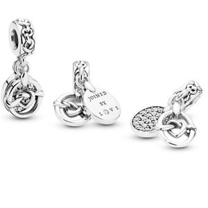 Pandora Knotted Heart Dangle Charm Silver 2019 New